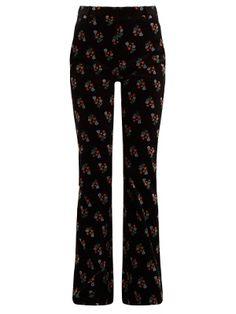Floral-print flared-leg corduroy trousers | Sonia Rykiel | MATCHESFASHION.COM US
