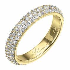Yellow gold diamond pavé eternity band - Memoire ®