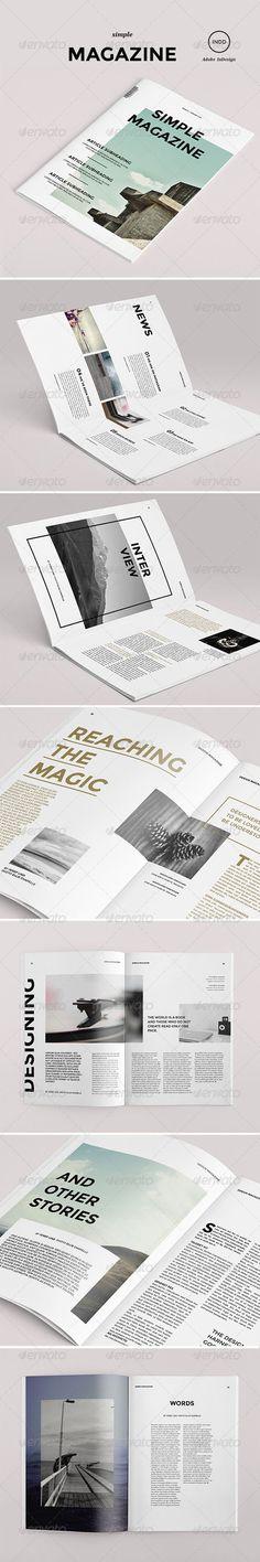 Simple Magazine - Magazine Print Template