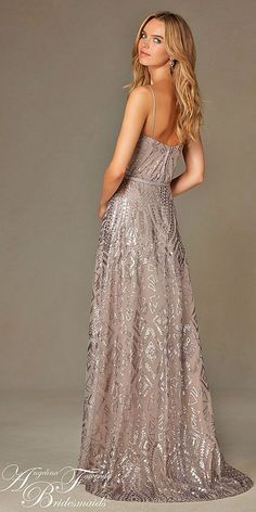 18 Full On Glitz Sequined & Metallic Bridesmaid Dresses ❤ See more: http://www.weddingforward.com/sequined-metallic-bridesmaid-dresses/ #wedding #dresses #bridesmaid