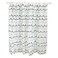 Wave Blue Shower Curtain - Pillowfort™