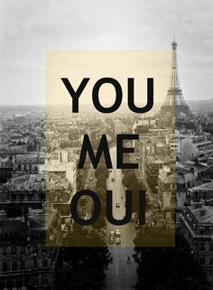 You Me Oui Paris 8x10 Art Print French Words by gypsyfables, $18.00