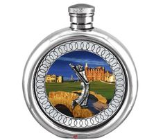 Round Hip Flask Pewter 6oz Colour Encapsulated Golfer by iLuv. $83.00. Round Hip Flask Pewter 6oz Colour Encapsulated Golfer. Round Hip Flask Pewter 6oz Colour Encapsulated Golfer This 6oz Colour Encapsulated Hip Flask is a Popular Gift with a Country Sport theme for every one who loves the outdoors and sports and animals, a great 18th or 21st Birthdays or as a general Gift for Him. Featuring a Country Sport Scene theme this is a Great Gift for the outdoor person.