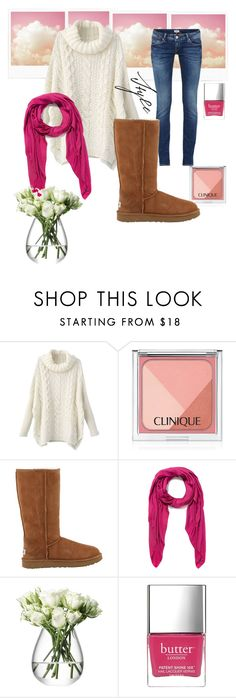 """Dulce invierno"" by alex-groma ❤ liked on Polyvore featuring Clinique, UGG Australia, Faliero Sarti and Butter London"