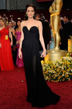 Angelina Jolie Elie Saab dress Oscars 2009- love the earrings and the neckline