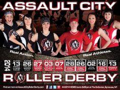 Assault City Roller Derby 2014 Schedule