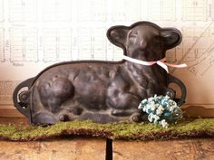 WANT THIS!!!! (but, pricey! Will have to hunt for it at antiques shops) Vintage Cast Iron Easter Lamb Cake Mold by CopperAndTin on Etsy, $120.00
