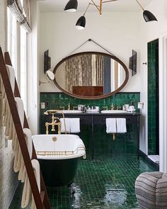 Beautiful bathroom by Soho House Los Angeles - Home Design and Decoration Soho House, Bad Inspiration, Bathroom Inspiration, Interior Inspiration, Interior Ideas, Interior Lighting, Interior Styling, Interior Design Minimalist, Interior Modern
