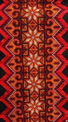 Orange tone Needlepoint Stitches, Hand Embroidery Stitches, Embroidery Art, Cross Stitch Embroidery, Embroidery Patterns, Cross Stitch Borders, Cross Stitch Flowers, Cross Stitch Designs, Cross Stitching