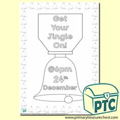 FREE Christmas Eve Jingle Printables - Worldwide Christmas Eve Jingle - Primary Treasure Chest Poster Colour, Treasure Chest, Christmas Eve, Colouring, Printables, Activities, Free, Color, Ideas
