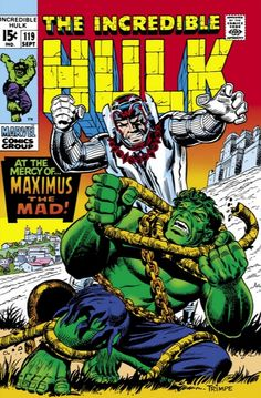 Marvel comics retro the incredible hulk comic book cover no103 incredible hulk vol 1 119 at the mercy of maximus fandeluxe Image collections