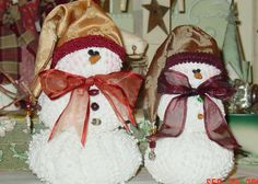 Snowy and Flake snowmen pattern