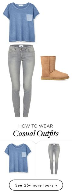 """Just Another Casual Friday"" by lexilove47 on Polyvore featuring Paige Denim, MANGO and UGG Australia"