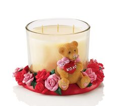 I Heart You Bear Candleholder - Great variety of Valentines Day gifts ranging all under $30 from www.SellingBeautyIsEasy.com #valentinesdaygifts #valentinesday #candleholder #bear #candles $12.99
