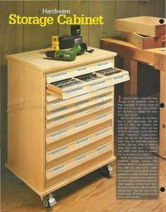 #1421 Hardware Storage Cabinet Plans - Workshop Solutions
