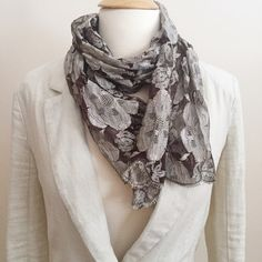 listing! Cute Sheer Scarf Super cute and never worn. Sheer with floral pattern, touches of purples and gold. ❌no trades ✅make an offer Accessories Scarves & Wraps