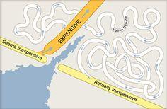 Clever Google Maps Manipulations by Christoph Niemann | Abduzeedo | Graphic Design Inspiration and Photoshop Tutorials