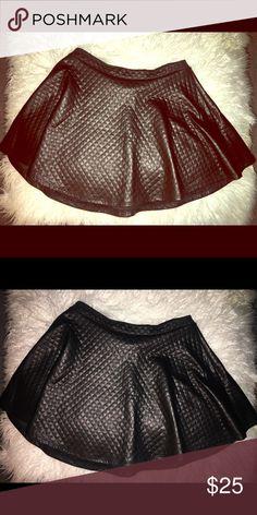 Leather skater skirt Leather pleated skater skirt Skirts Mini