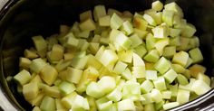 Chopping the apples is the most time-consuming part of the prep, and the rest is just mixing, sprinkling, and turning on the slow cooker.