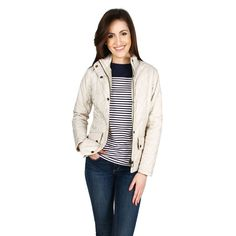 Flyweight Calvary Jacket in Pearl/Stone by Barbour #$100-to-$200