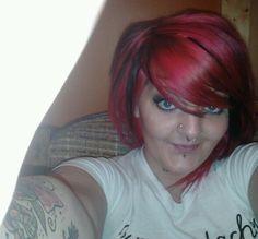 Pink and black hair, I did myself.