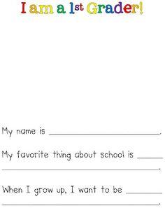Fun in First Grade: Back to School.  Freebie!