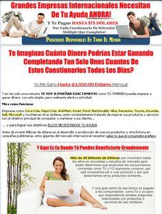 ... en espanol, paid surveys, encuestas, dinero casa, gane dinero desde
