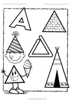 Üçgen Kavramı Çalışma Sayfası Triangle Worksheet, Shapes Worksheets, Finger Plays, Step Kids, Pre Writing, Preschool Printables, Basic Shapes, Triangle Shape, Cute Images