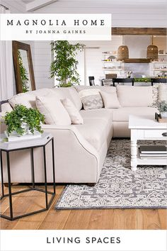 Magnolia Home Living Room Collections. You lounge, work and play here, so make sure the pieces in your living room are extra inviting, relaxing & inspiring. Joanna has designed each piece to be family-friendly and comfortably livable - her authenticity sh Joanna Gaines Decor, Home And Living, Interior Design, House Interior, Living Room Collections, Bedroom Interior, Home, Farm House Living Room, Home Decor
