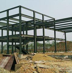 Pro of Structural Steel Manufacturers - Yinghong Garden Platform Steel Structure Buildings, Concrete Structure, Metal Structure, Steel Frame House, Steel House, Plans Loft, Building Foundation, Modern Villa Design, Casas Containers