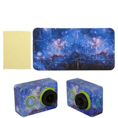 New Blue Galaxy Sticker Skin Protector Case For Camcorder XiaoMi Yi Sport Camera #UnbrandedGeneric