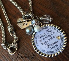 Mother of the BRIDE gift, MOTHER of the Groom, Personalized wedding jewelry, I will love her with my whole heart, Forever your little girl by buttonit on Etsy Mother Of Bride Gifts, Mother Of The Bride, Personalized Wedding, Personalized Gifts, Handmade Gifts, Whole Heart, Forever Yours, Wedding Jewelry, Dog Tag Necklace