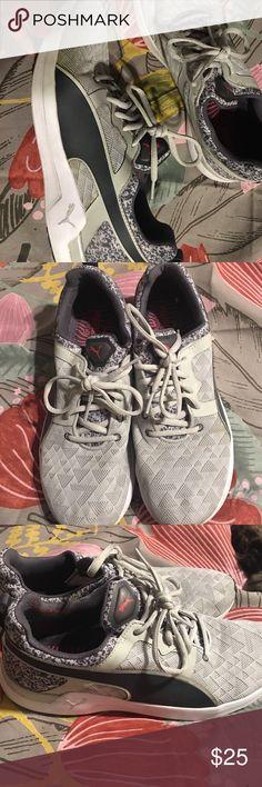 Puma Gym Shoes Grey and charcoal Puma Shoes Puma Shoes Athletic Shoes