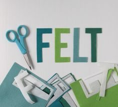 Cutting Shapes out of Felt