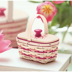 The cutest mini 2014 Horizon of Hope basket from Longaberger! Available until October 31 - it's a Collectors Club item, and I have one access code available!