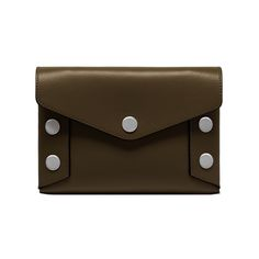 Shop the Envelope Pouch in Moss Smooth Calf at Mulberry.com. The Envelope Pouch can be carried as a clutch for smaller essentials, or used as a larger wallet inside a bag. Continuing the theme of the season, the pouch is decorated with Johnny Coca's signature press studs.