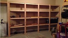 I want shelves like this in the garage.