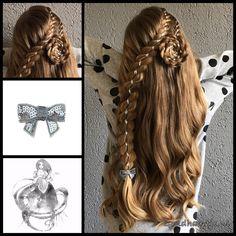 Two four strand ribbon braids with a lovely bow from the webshop www.goudhaartje.nl (see link in bio, worldwide shipping). #hair #haar #vlecht #vlechten #bow #hairstyle #braid #ribbonbraid #braids #hairstylesforgirls #plait #trenza #peinando #beautifulhair #gorgeoushair #stunninghair #hairaccessories #hairinspo #braidideas #amazinghair #halfupdo #longhair #longhairdontcare #blonde #blondehair #goudhaartje