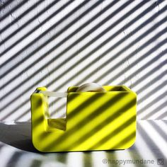 #stripes #black #white #yellow #tape #mundaneaesthetic photo by happymundane on Instagram