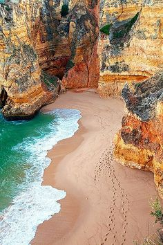 Dona Ana Beach, Algarve, Portugal I Can. To go visit my family in Portugal. Algarve, Hidden Beach, Dream Vacations, Vacation Spots, Jamaica Vacation, Vacation Ideas, Beach Vacations, Places To Travel, Places To See