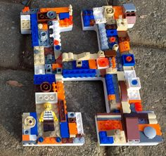 This is a made to order mosaic letter using genuine LEGO® bricks. Approximately 9 inches high. If you want a custom letter -- contact me. THIS