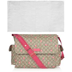 ea9839e75464 Carry baby's essentials in pure style in this perfect sized Gucci GG  Supreme canvas alongside the rose bud printed changing bag. Upon the front  flap cover ...