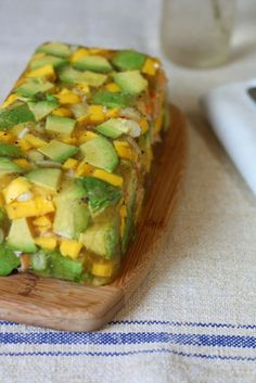 Retrocado Aspic with Mango and Shrimp. Must make for lunches!!