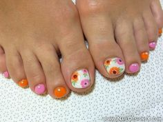 toe summer nail art
