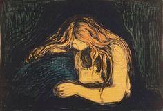 los temas de Munch:las relaciones humanas,la ansiedad.