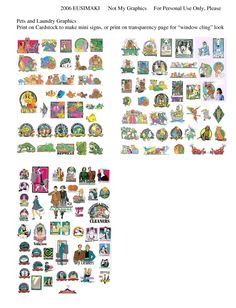 Food and Miscellaneous Signs - Website devoted to 1/12th scale miniature dollhouse printables (printies)!