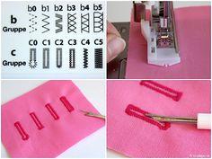 Nähfuß - kunde Automatische Knopflochschiene Knopfannähfuß Knopflochfuß W6 Naehmaschine 4