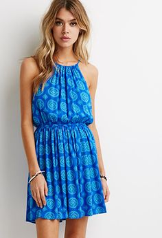 Crinkled Mandala Print Dress | Forever 21 - 2000079582