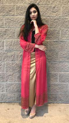 Beaded Long Drape/Jacket /Cape – Sarang Saree Dress, Dress Skirt, Little Girl Wedding Dresses, Beaded Cape, Party Wear Lehenga, Kurti Designs Party Wear, Blouse Designs, Designer Dresses, Fashion Dresses