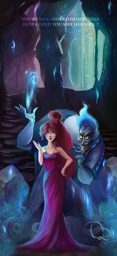 Megara's soul in Hades Inferno by Noumenie on DeviantArt Megara Disney, Hades Disney, Disney Pixar, Film Disney, Disney Fan Art, Disney Villains, Disney And Dreamworks, Disney Cartoons, Disney Love
